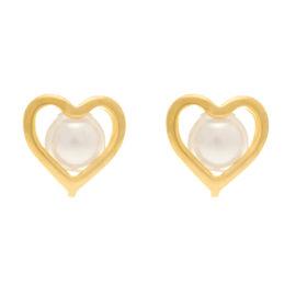 524525 brinco coração vazado com pérola no centro colecao dia dos namorados marca rommanel loja revendedora brilho folheados