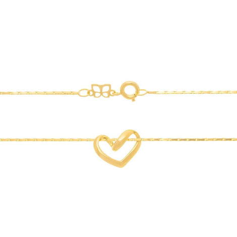 530519 gargantilha coracao vazado fio diamantado colecao dia dos namorados marca rommanel loja revendedora brilho folheados 2