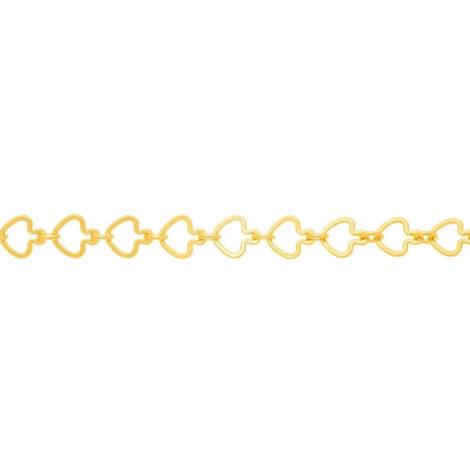 531124 corrente formada por fio coracoes vazados colecao dia dos namorados marca rommanel loja revendedora brilho folheados 1
