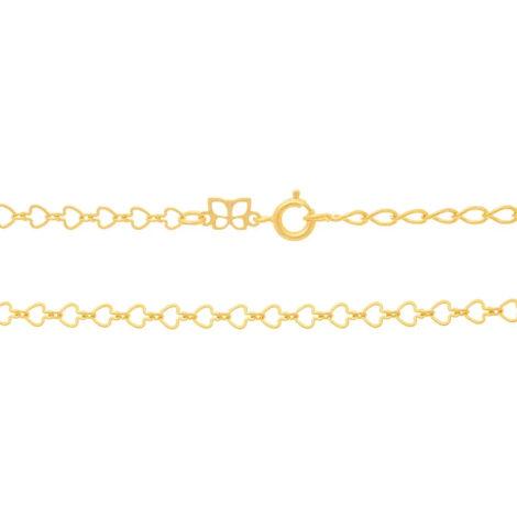 531124 corrente formada por fio coracoes vazados colecao dia dos namorados marca rommanel loja revendedora brilho folheados 3