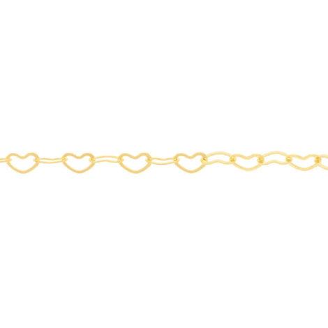 531131 corrente dupla formada por coracoes vazados colecao dia dos namorados marca rommanel loja revendedora brilho folheados 1