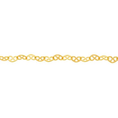 531471 cordão fio formado por corações entrelaçados colecao dia dos namorados marca rommanel loja revendedora brilho folheados 2