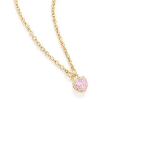 531965 gargantilha zirconia formato coracao rosa colecao dia dos namorados marca rommanel loja revendedora brilho folheados 1
