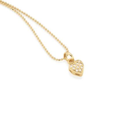 541537 pingente delicado mini coração com zircônias marca rommanel loja revendedora brilho folheados
