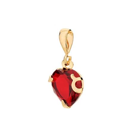 541790 pingente coração cristal vermelho com garras colecao dia dos namorados marca rommanel loja revendedora brilho folheados 1