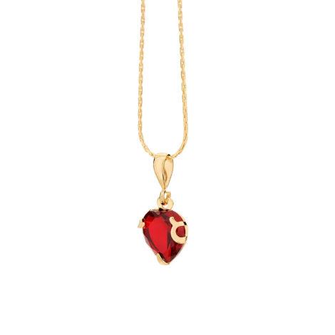 541790 pingente coração cristal vermelho com garras colecao dia dos namorados marca rommanel loja revendedora brilho folheados 3