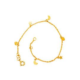 550494 pulseira berloques de estrela coracao e lua marca rommanel loja revendedora brilho folheados
