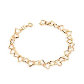 550709 pulseira coracoes vazados lisos e trabalhados colecao dia dos namorados marca rommanel loja revendedora brilho folheados