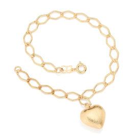 550964 pulseira pingente coração fio losango batido colecao dia dos namorados marca rommanel loja revendedora brilho folheados
