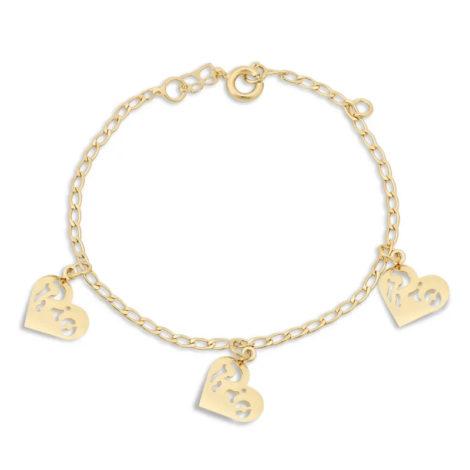 550985 pulseira coracoes com a palavra rio vazada marca rommanel loja revendedora brilho folheados