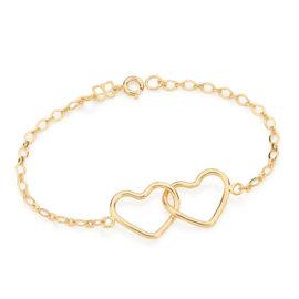551193 pulseira dois corações vazados entrelaçados colecao dia dos namorados marca rommanel loja revendedora brilho folheados 1