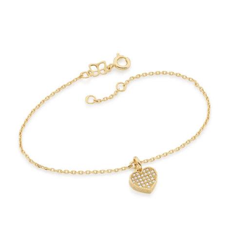 551346 pulseira com pingente coracao de zirconias colecao dia dos namorados marca rommanel loja revendedora brilho folheados