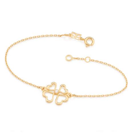 551425 pulseira formada por quatro coracoes e zirconia colecao dia dos namorados marca rommanel loja revendedora brilho folheados