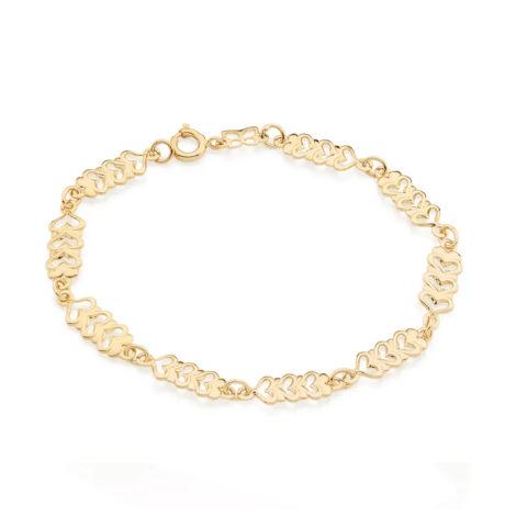 551426 pulseira formada por coracoes vazados e unidos com uma zirconia colecao dia dos namorados marca rommanel loja revendedora brilho folheados 2