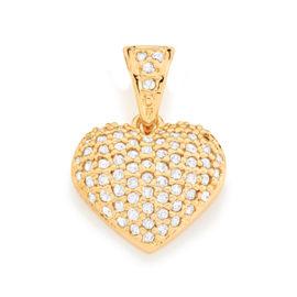 Imagem de fundo branco, com pingente coração pequeno cravejado com micro zircônias brancas marca rommanel, sku 541515.