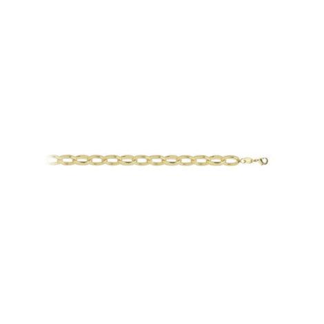 Imagem de fundo branco com um cordão no centro da marca Sabrina Joias, código 263E45. Corrente folheada a ouro, corrente elos ovais. Cordão feminino, pode ser usado como corrente ou choker. Cordão mede 45 cm de comprimento x 0,3 cm de largura.